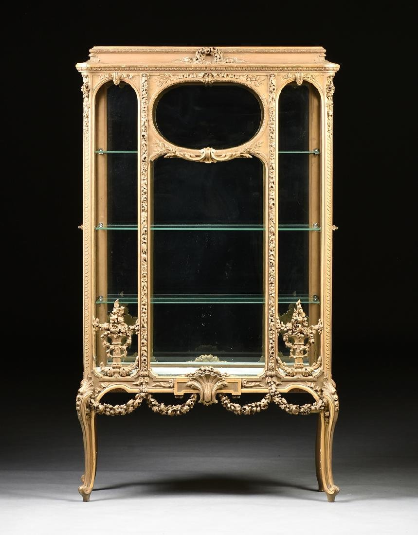 A NAPOLEON III GILTWOOD VITRINE, SECOND FRENCH EMPIRE