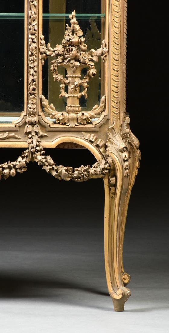 A NAPOLEON III GILTWOOD VITRINE, SECOND FRENCH EMPIRE - 4