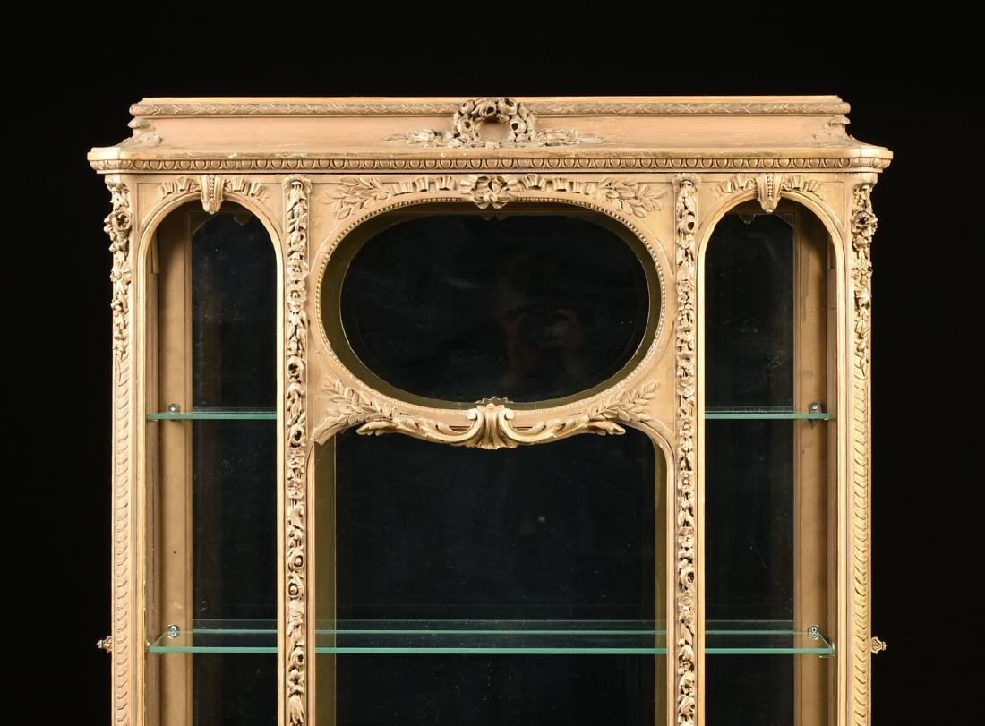 A NAPOLEON III GILTWOOD VITRINE, SECOND FRENCH EMPIRE - 5