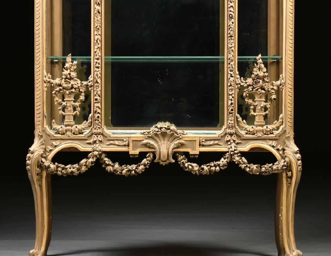 A NAPOLEON III GILTWOOD VITRINE, SECOND FRENCH EMPIRE - 6