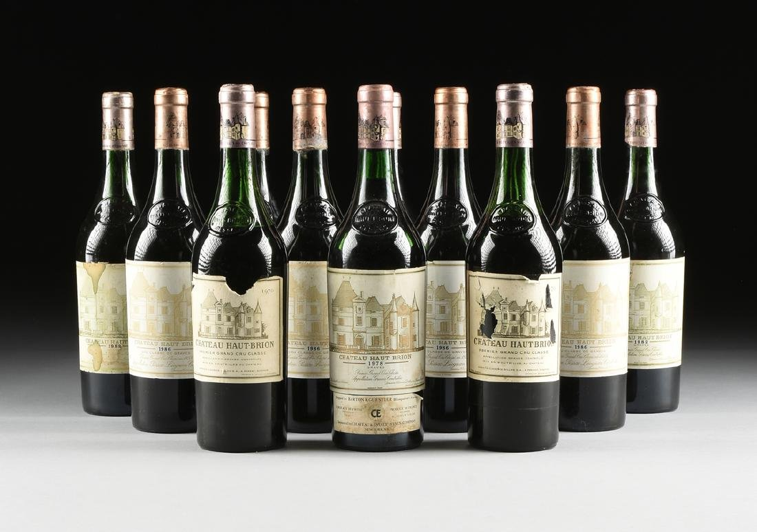 A GROUP OF TWELVE BOTTLES OF CHÂTEAU HAUT BRION WINE,