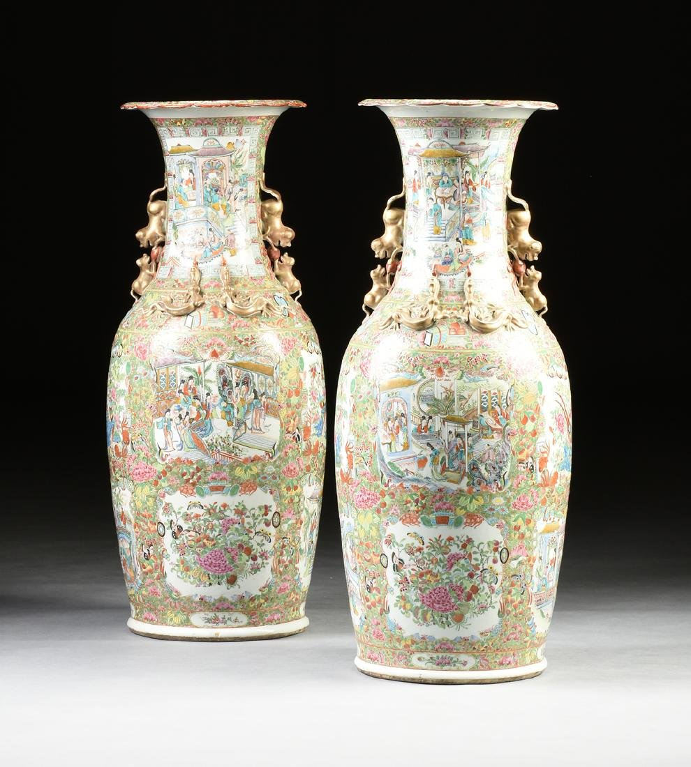 A PAIR OF LATE QING DYNASTY (1644-1912) IMPERIAL SIZE