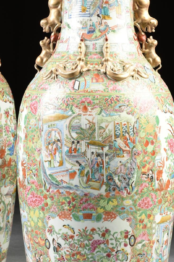 A PAIR OF LATE QING DYNASTY (1644-1912) IMPERIAL SIZE - 4