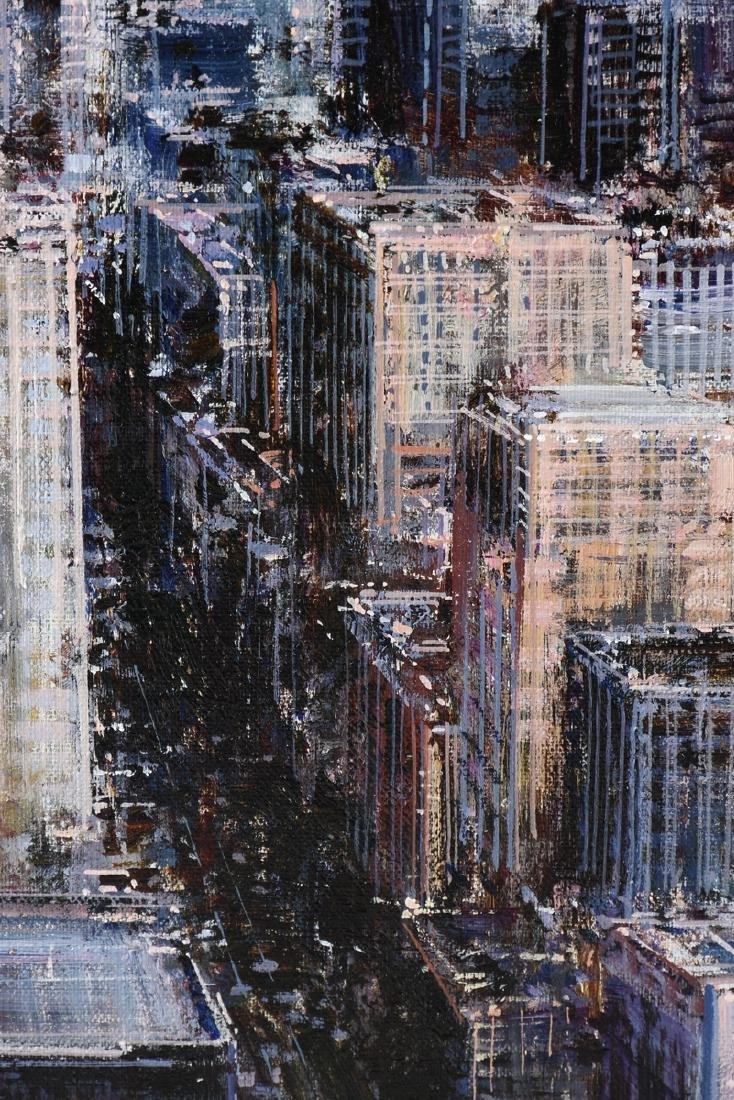 """LUIGI ROCCA (Italian b. 1952) A PAINTING, """"N.Y.,"""" - 8"""