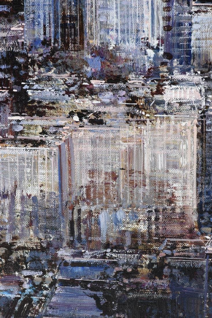 """LUIGI ROCCA (Italian b. 1952) A PAINTING, """"N.Y.,"""" - 9"""