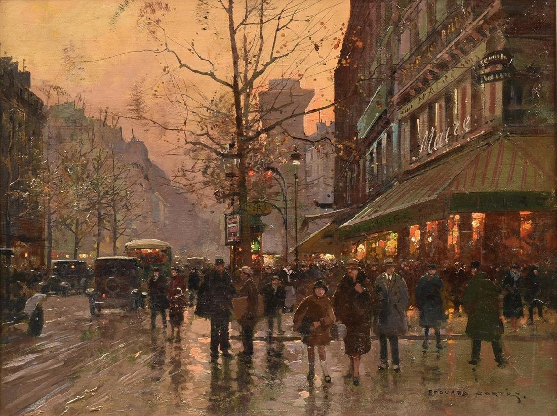 "ÉDOUARD CORTÈS (French 1882-1969) A PAINTING, ""Street"