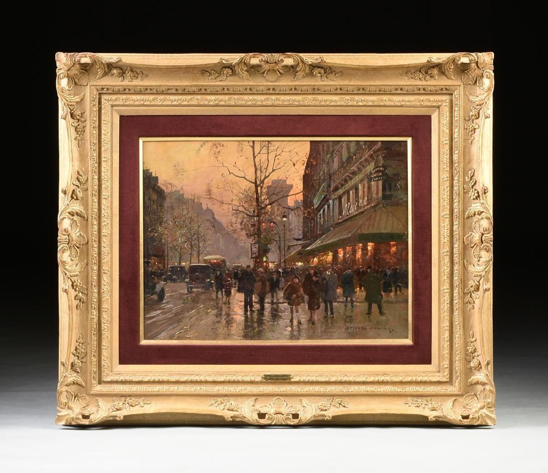 "ÉDOUARD CORTÈS (French 1882-1969) A PAINTING, ""Street - 2"