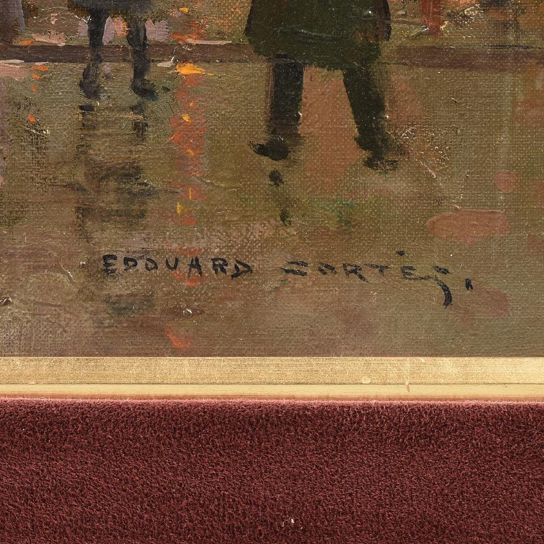 "ÉDOUARD CORTÈS (French 1882-1969) A PAINTING, ""Street - 3"