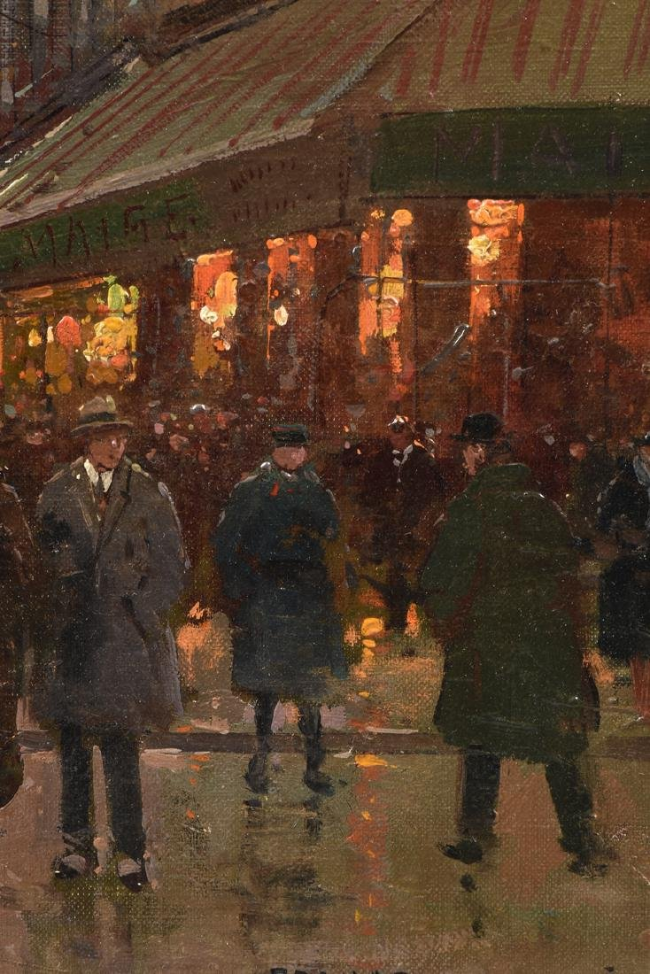 "ÉDOUARD CORTÈS (French 1882-1969) A PAINTING, ""Street - 4"