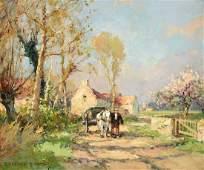 "ÉDOUARD CORTÈS (French 1882-1969) A PAINTING, ""Farm"