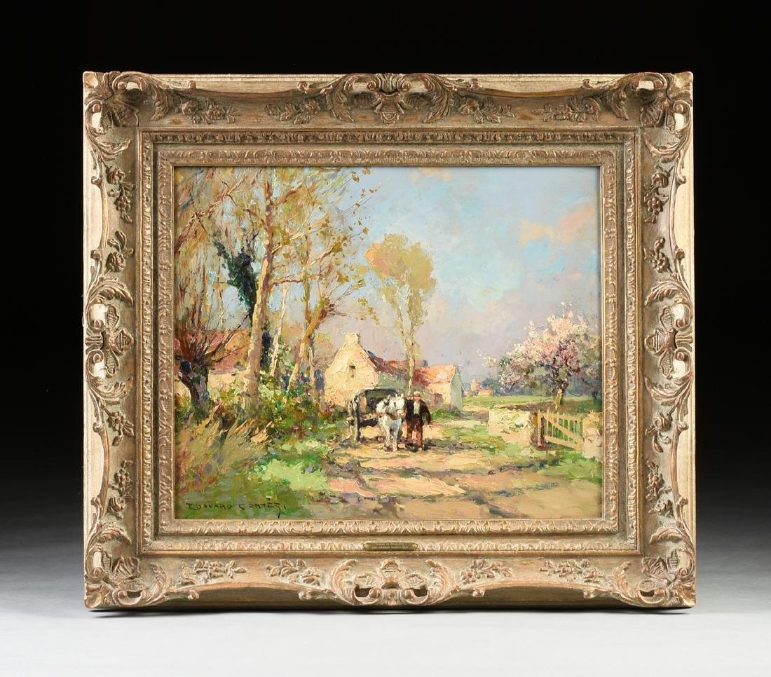 "ÉDOUARD CORTÈS (French 1882-1969) A PAINTING, ""Farm - 2"