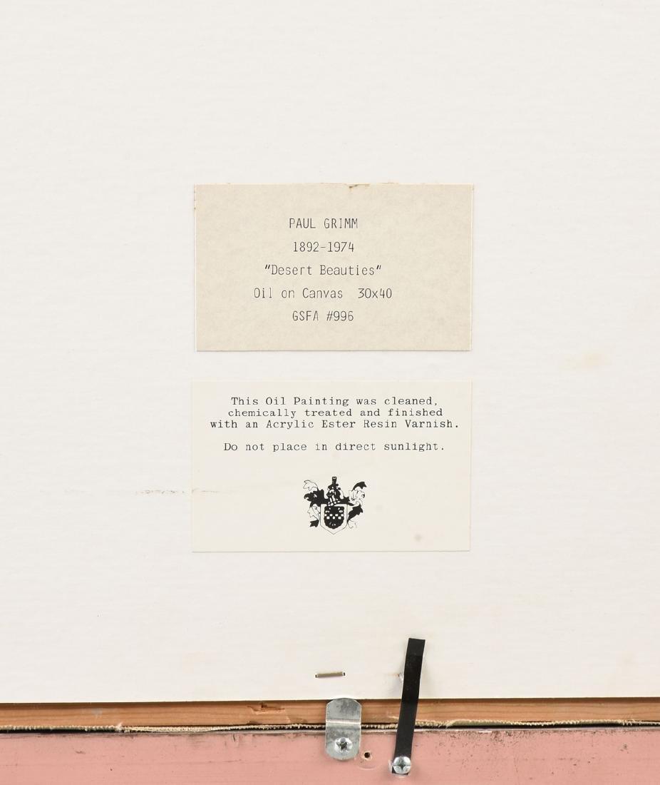 "PAUL GRIMM (American 1891-1974) A PAINTING, ""Desert - 13"