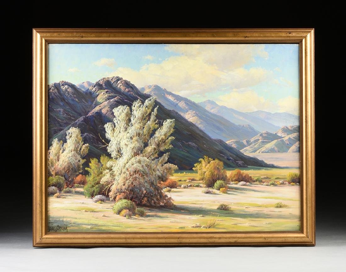"PAUL GRIMM (American 1891-1974) A PAINTING, ""Desert - 2"