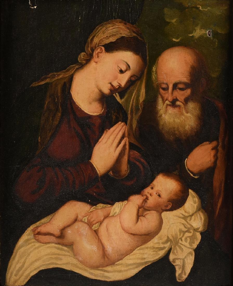 "after BONIFACIO (Italian 1487-1533) A PAINTING, ""Christ"