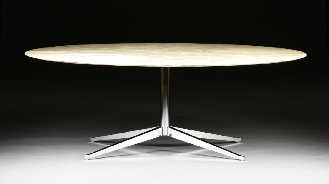 FLORENCE KNOLL (American b. 1917) AN OVAL MARBLE AND
