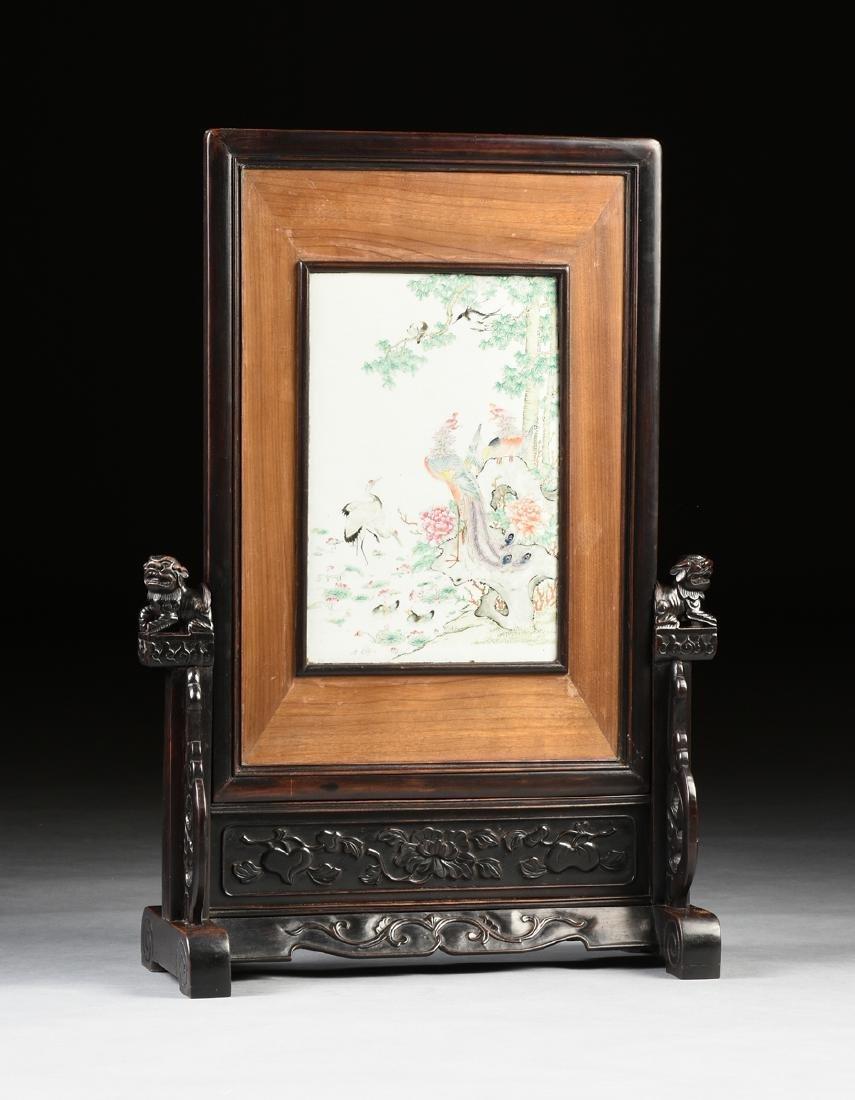 A QING DYNASTY (1644-1912) FAMILLE ROSE PORCELAIN