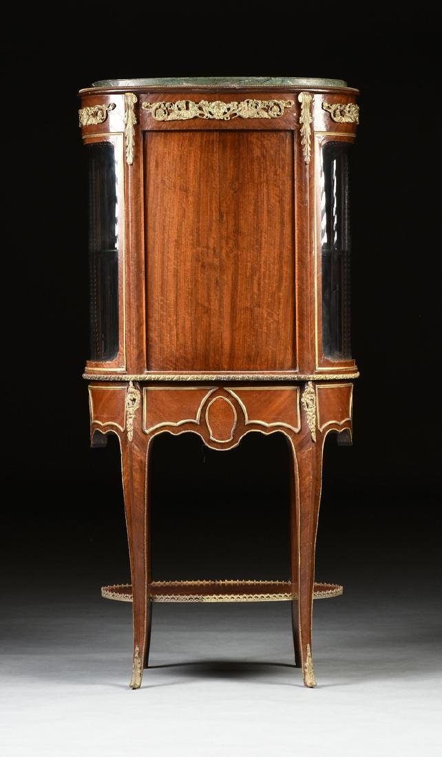 A LOUIS XV STYLE ORMOLU MOUNTED MAHOGANY MARBLE TOP - 10