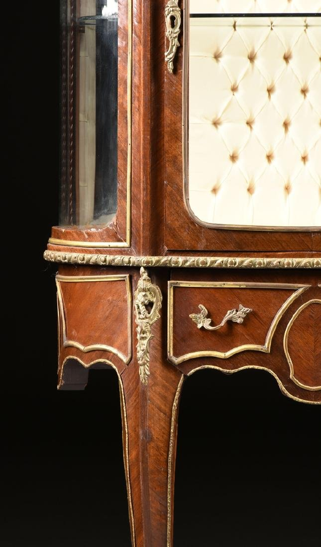 A LOUIS XV STYLE ORMOLU MOUNTED MAHOGANY MARBLE TOP - 3