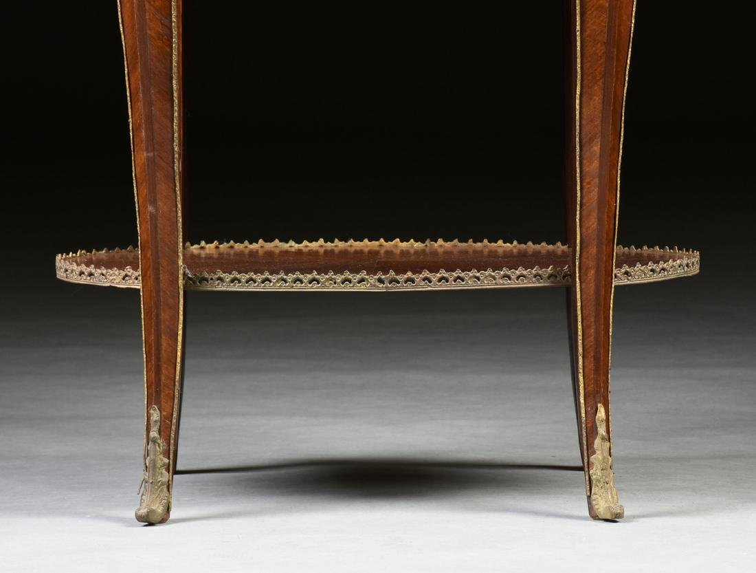 A LOUIS XV STYLE ORMOLU MOUNTED MAHOGANY MARBLE TOP - 6