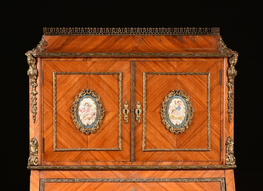A BELLE ÉPOQUE LOUIS XV STYLE ORMOLU AND PORCELAIN - 2