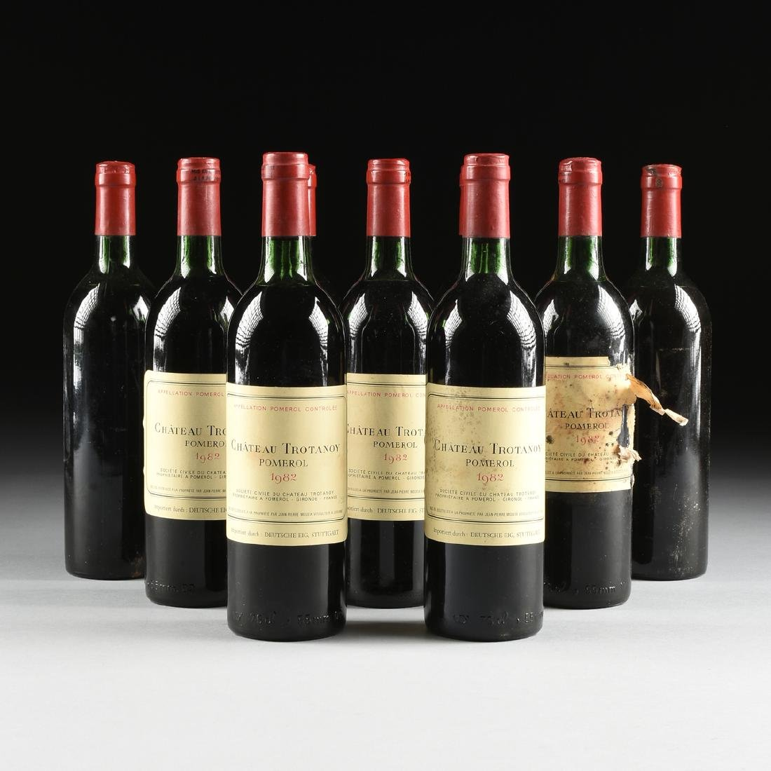 A GROUP OF NINE BOTTLES OF 1982 CHÂTEAU TROTANOY