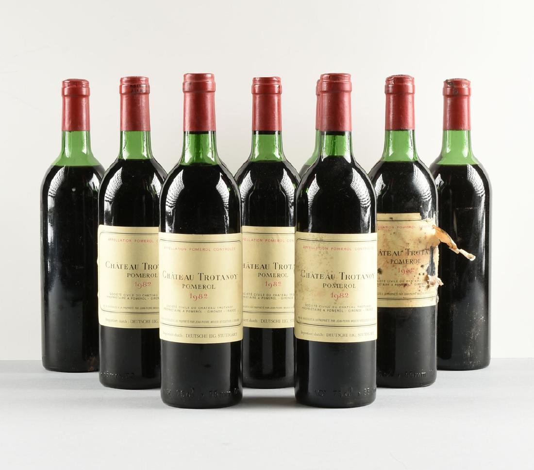 A GROUP OF NINE BOTTLES OF 1982 CHÂTEAU TROTANOY - 2