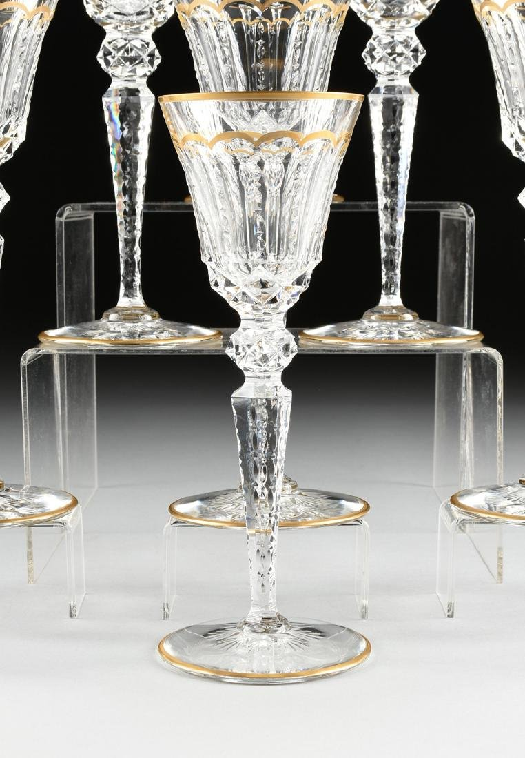 A SET OF NINE SAINT LOUIS CUT CRYSTAL WATER GLASSES IN - 2