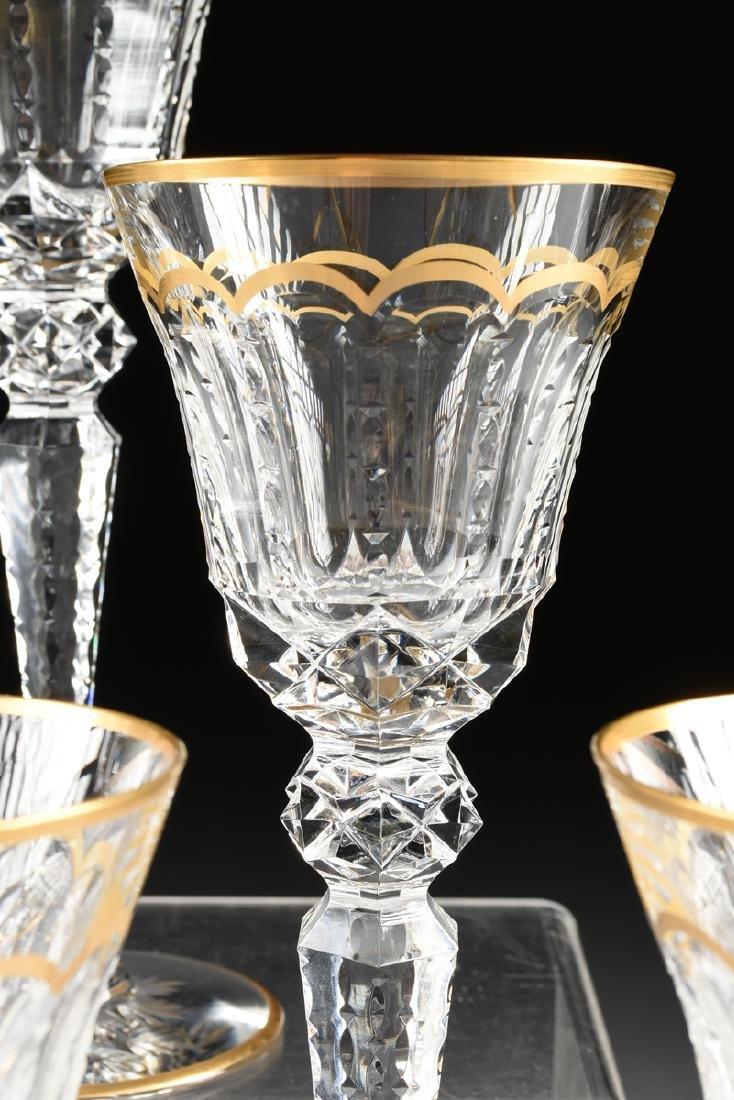 A SET OF NINE SAINT LOUIS CUT CRYSTAL WATER GLASSES IN - 3