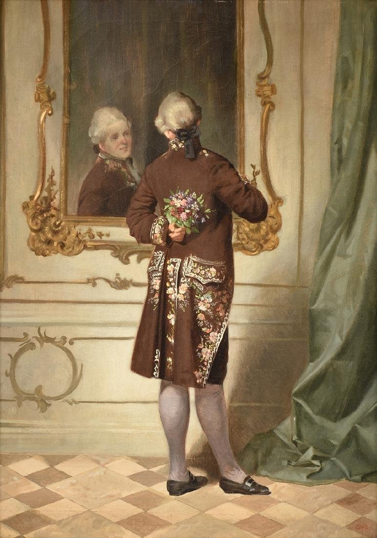 """ITALIAN SCHOOL (19th Century) A PAINTING, """"Posey for"""