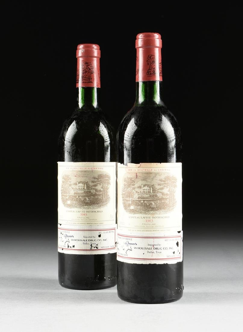 A GROUP OF TWO BOTTLES OF 1983 CHÂTEAU