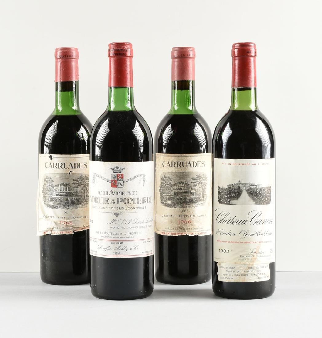 A GROUP OF FOUR BOTTLES OF FRENCH WINE, - 2