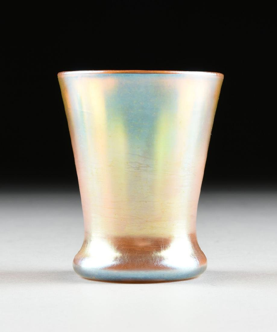 A GROUP OF FIVE AMERICAN IRIDESCENT GLASS VESSELS, - 5