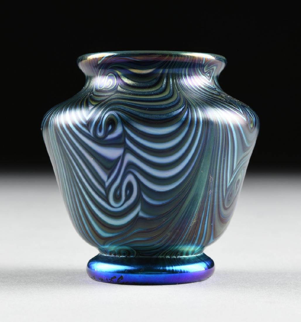 A GROUP OF FIVE AMERICAN IRIDESCENT GLASS VESSELS, - 7