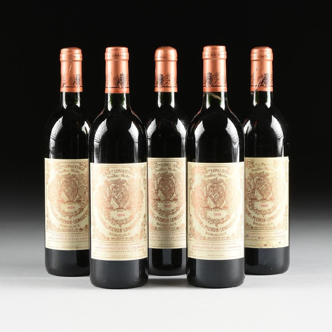 A GROUP OF FIVE BOTTLES OF 1989 CHÂTEAU