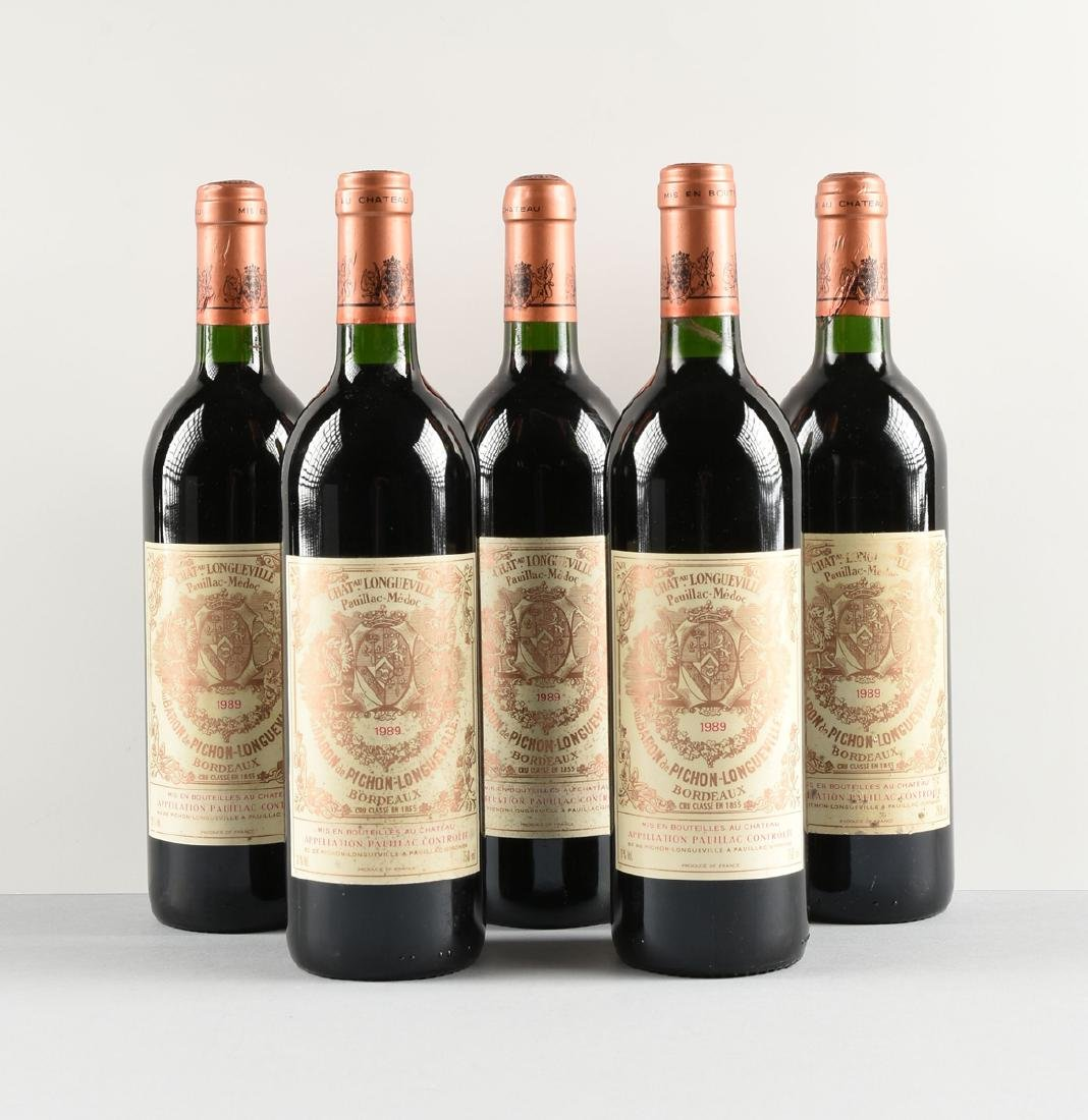 A GROUP OF FIVE BOTTLES OF 1989 CHÂTEAU - 2