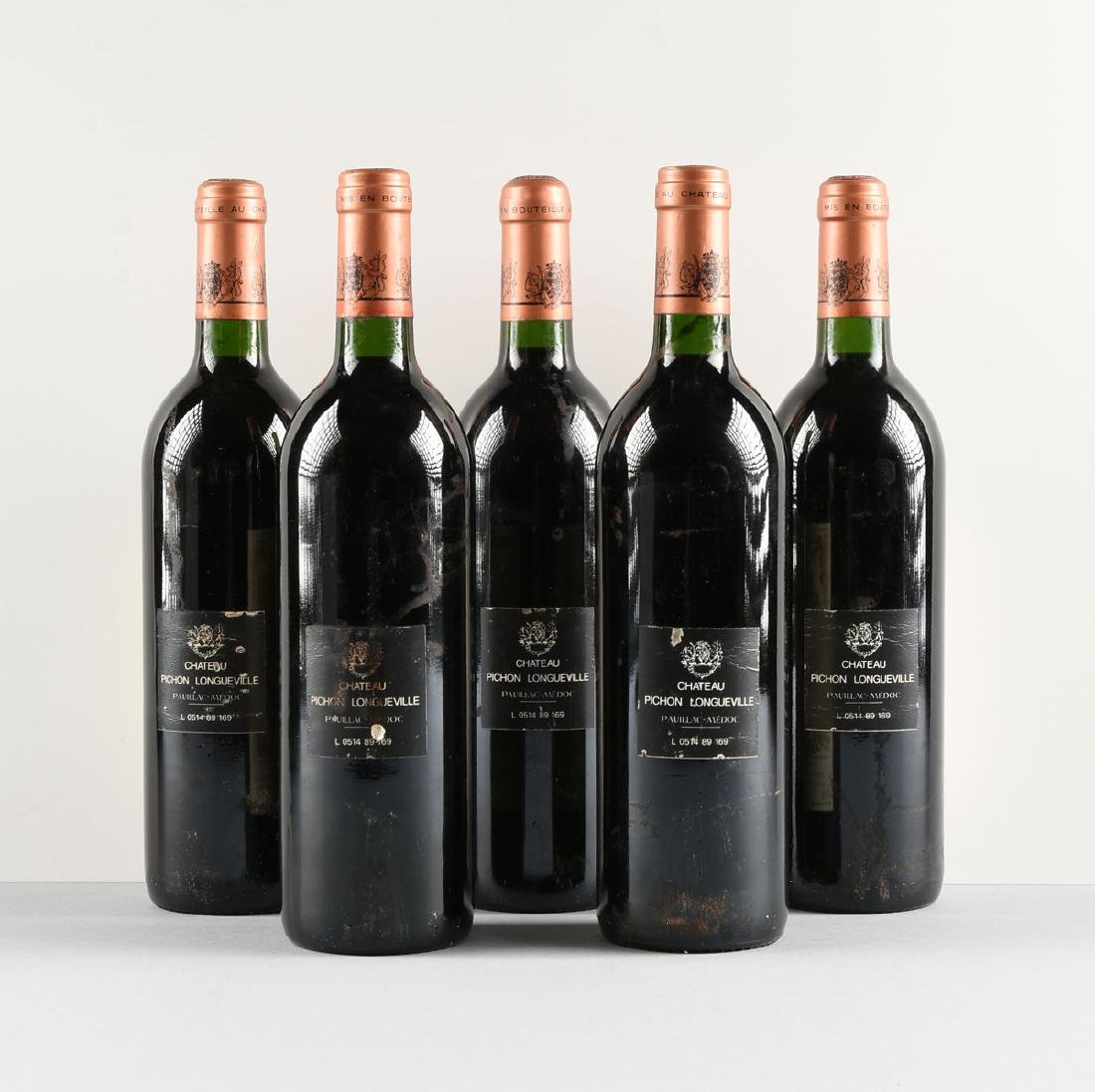 A GROUP OF FIVE BOTTLES OF 1989 CHÂTEAU - 4