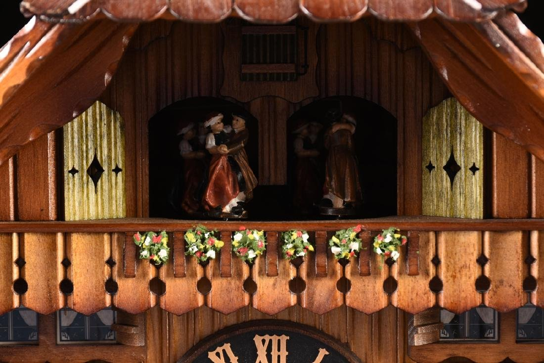 """A GERMAN BLACK FOREST CUCKOO CLOCK, """"Bears at Play by - 5"""