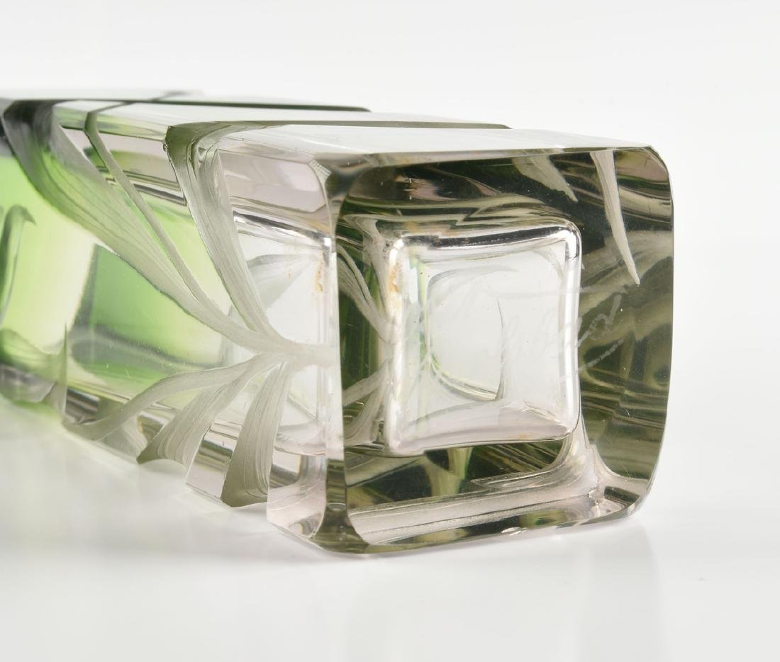 A GROUP OF FOUR GREEN GLASS VESSELS, CIRCA 1920-1970, - 8