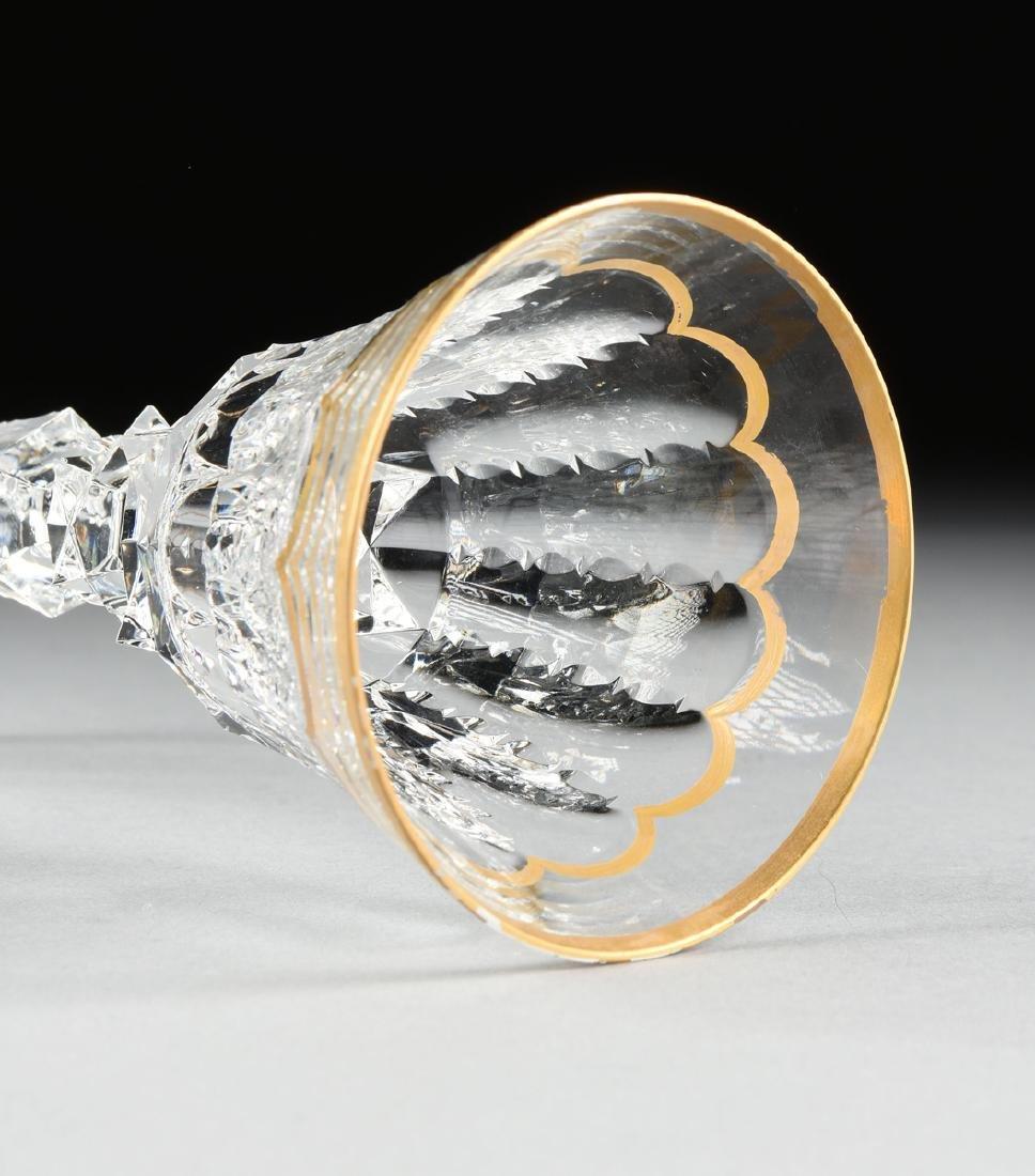 A SET OF FOUR SAINT LOUIS CUT CRYSTAL BORDEAUX GLASSES - 3