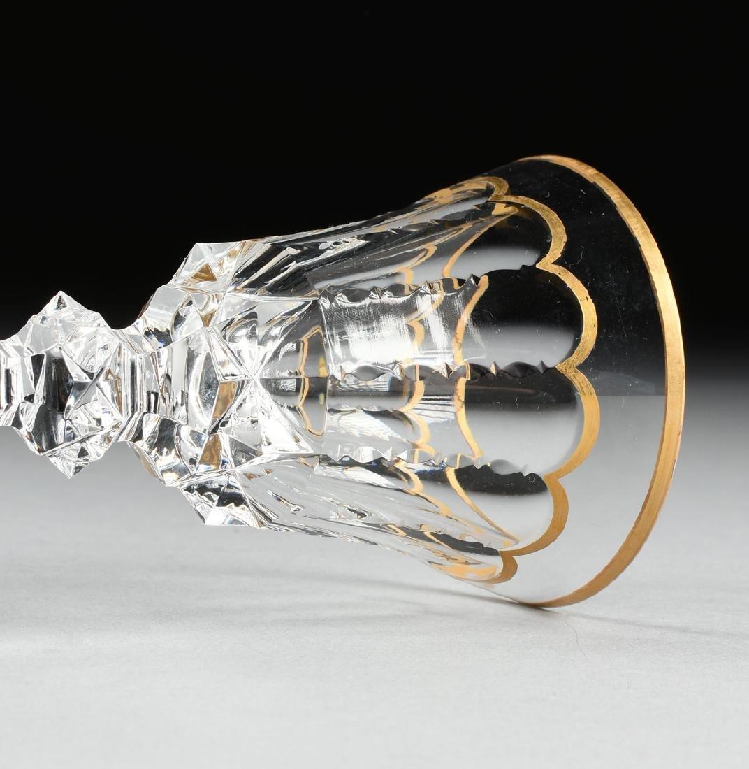 A SET OF FOUR SAINT LOUIS CUT CRYSTAL BORDEAUX GLASSES - 4