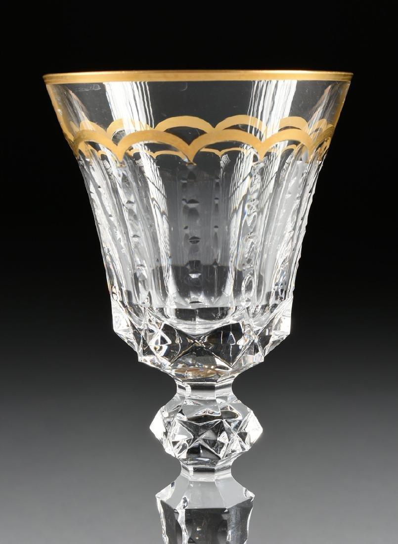 A SET OF FOUR SAINT LOUIS CUT CRYSTAL BORDEAUX GLASSES - 7