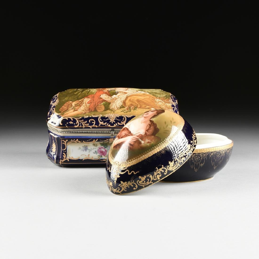 A GROUP OF TWO CONTINENTAL GILT AND ENAMEL DECORATED