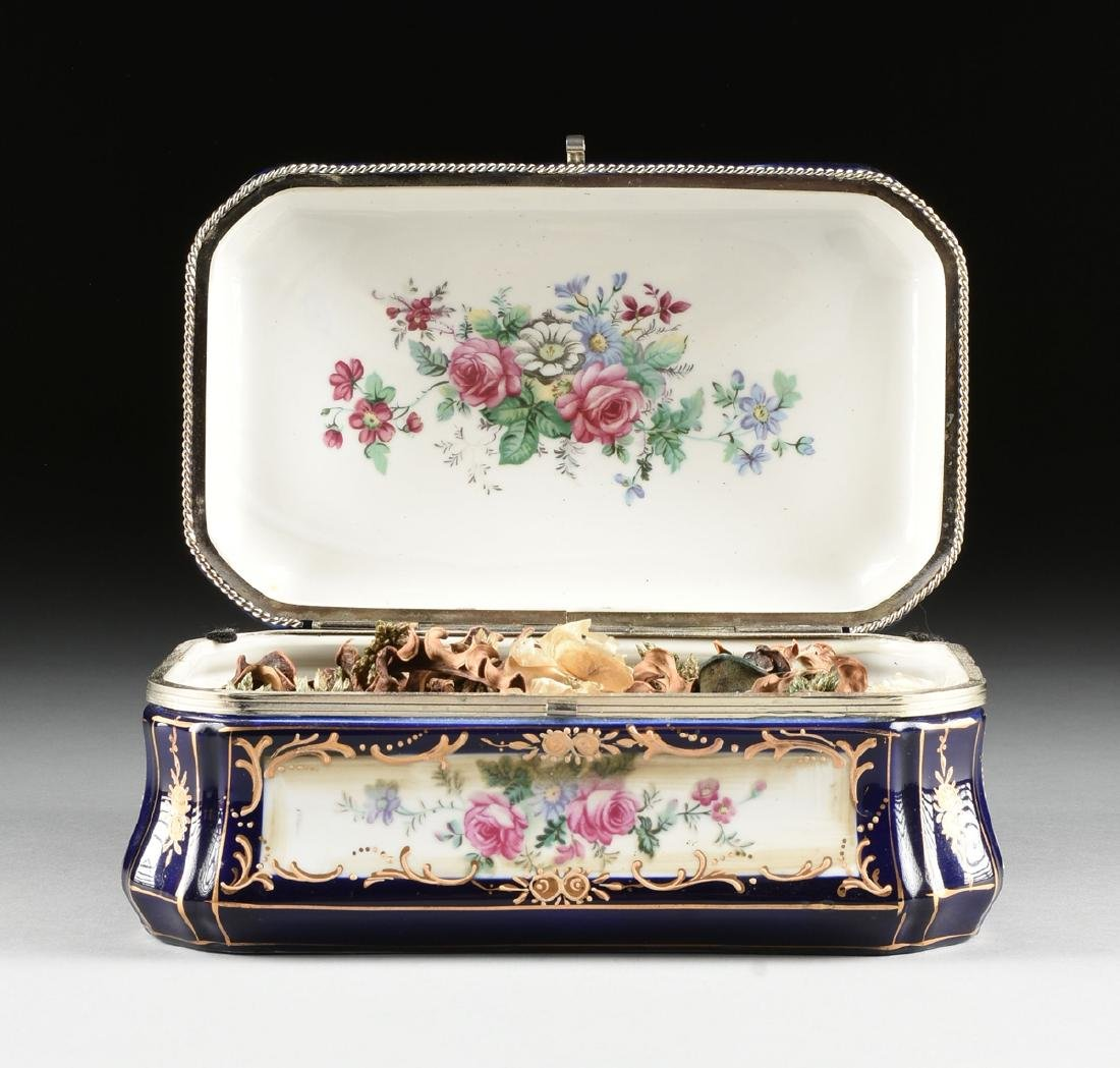 A GROUP OF TWO CONTINENTAL GILT AND ENAMEL DECORATED - 5