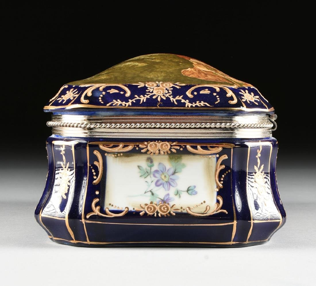 A GROUP OF TWO CONTINENTAL GILT AND ENAMEL DECORATED - 6