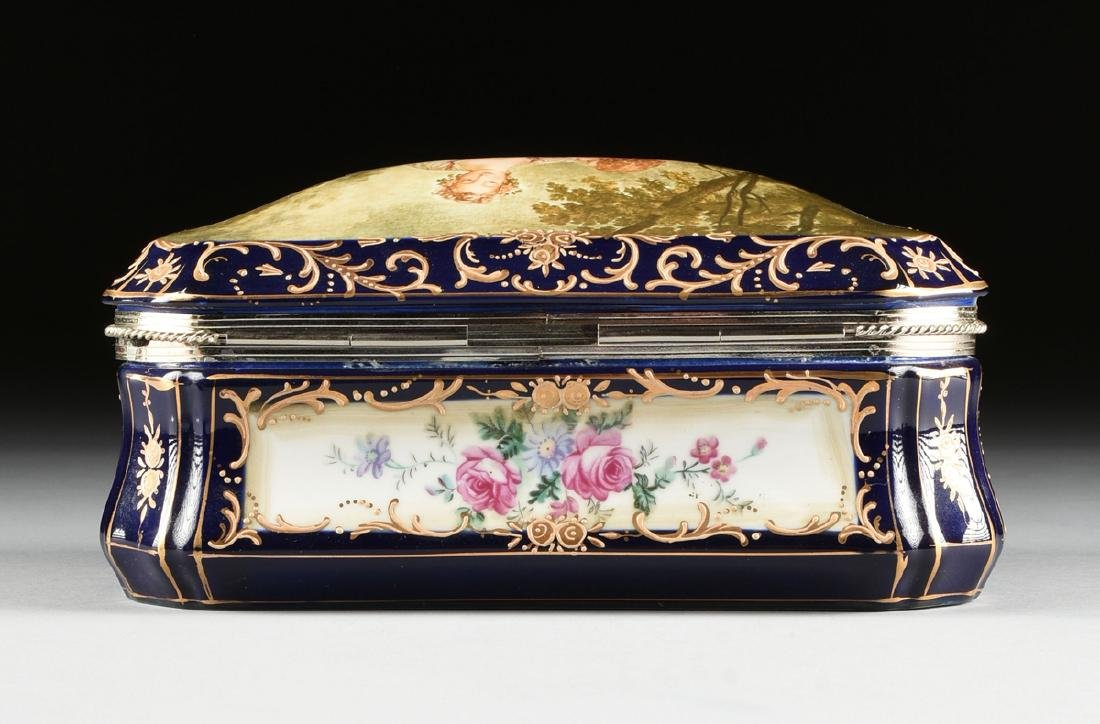 A GROUP OF TWO CONTINENTAL GILT AND ENAMEL DECORATED - 7
