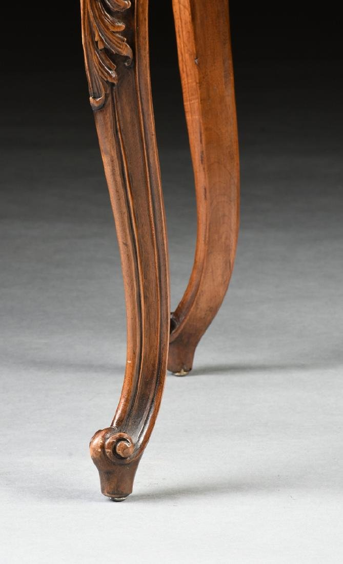 A CONTINENTAL ROCOCO REVIVAL WALNUT AND CANE BOUDOIR - 7