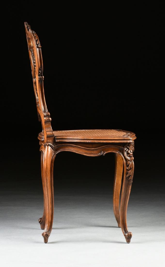 A CONTINENTAL ROCOCO REVIVAL WALNUT AND CANE BOUDOIR - 8