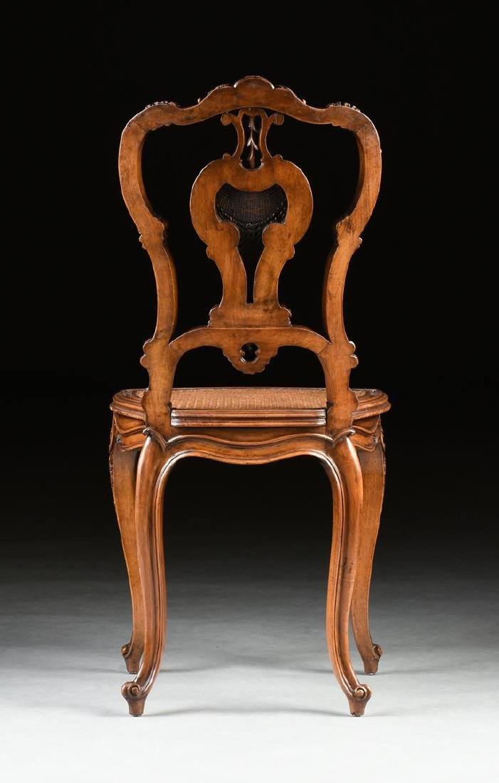 A CONTINENTAL ROCOCO REVIVAL WALNUT AND CANE BOUDOIR - 9
