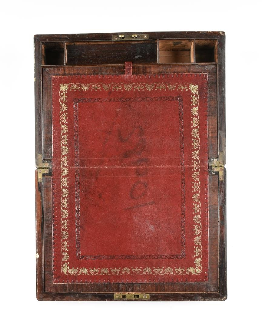 A WILLIAM IV MOTHER OF PEARL INLAID ROSEWOOD VENEERED - 2