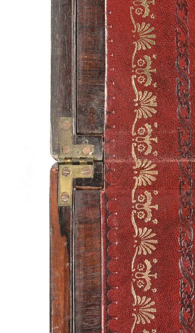 A WILLIAM IV MOTHER OF PEARL INLAID ROSEWOOD VENEERED - 4